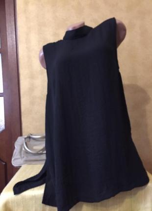Чёрная стильная  туника / майка
