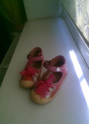 Фирменные босоножки, балетки туфельки 21 р.3 фото