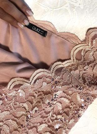 Шикарный нежно- розовый пудровый ромпер комбинезон кюлоты quiz3 фото