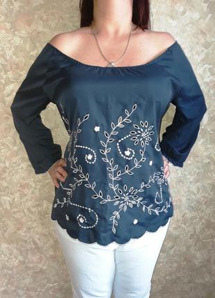 Нарядная блузка с вышивкой размер 16-18-20