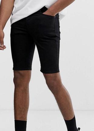 Мужские джинсовые зауженные шорты
