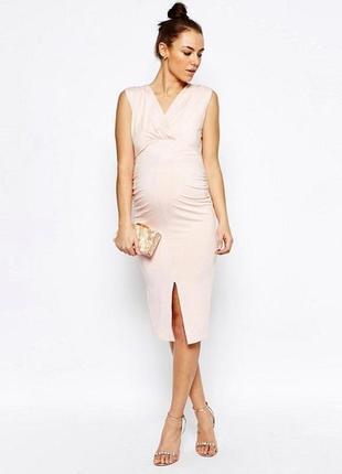 Нарядное трикотажное платье для беременных asos maternity новое
