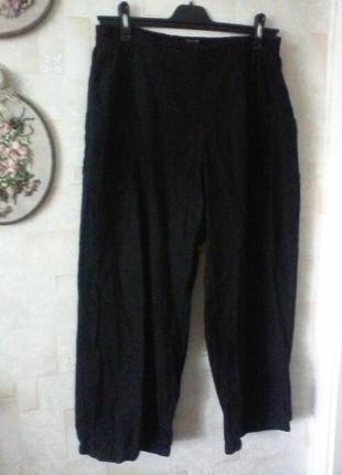 Льняные брюки в стиле бохо, лен, разм. 50-52