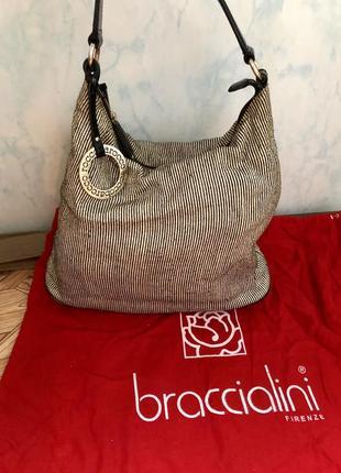 Roccobarocco сумка италия.красивая сумка в полоску