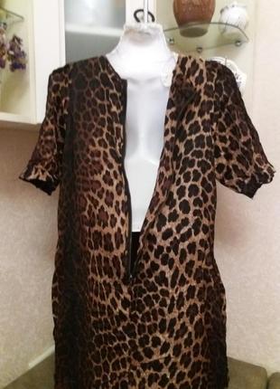 Платье леопринт бренд-zara   12\14р2 фото