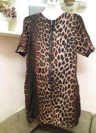 Платье леопринт бренд-zara   12\14р3 фото