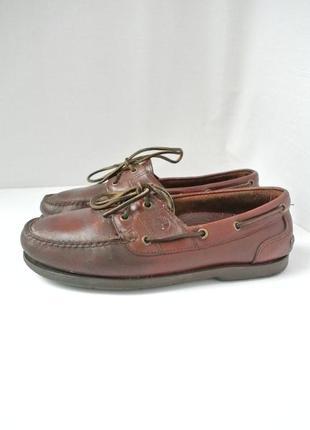 Стильные классические кожаные мужские туфли timberland. размер 42-43.