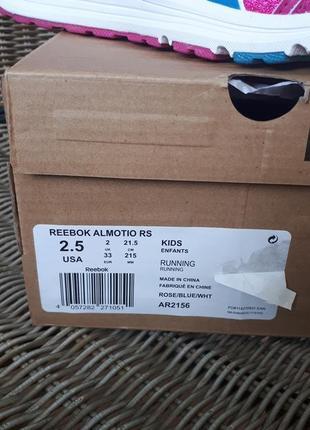 Кроссовки reebok almotio, 33 размер, 21,5 см, ortholite, uk2, usa 2,5