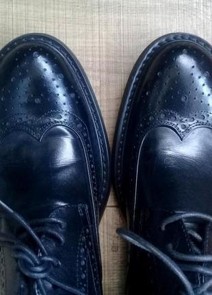 Кожаные мужские туфли-брогги от salvatore ferragamo!