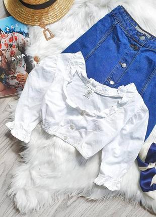 Блуза топ котонова с рюшами