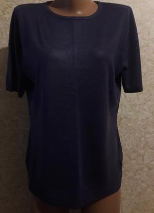 Фиолетовая кашемировая футболка