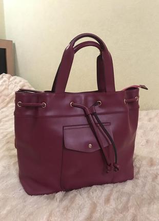 Кожаная сумка сумка кожаная италия цвет фуксия