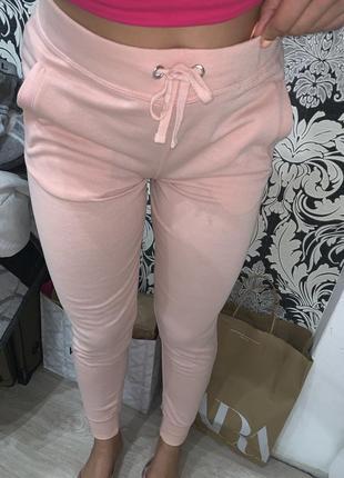 Спортивные штаны персиковые пудровые