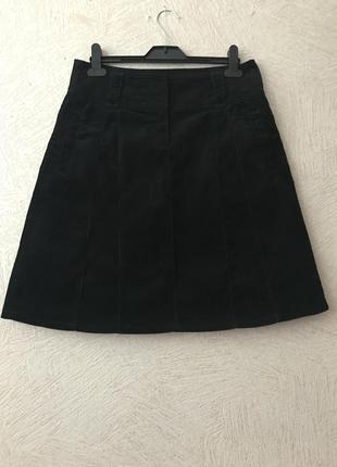 Tom tailor- микро-вельветовая юбка с клиньями, сост.новой