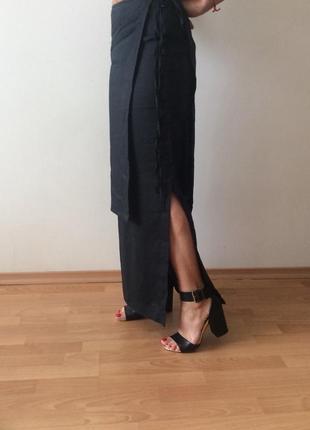 Оригинальная модная фирменная льняная юбка . италия 🇮🇹