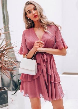Шифоновое платье simple