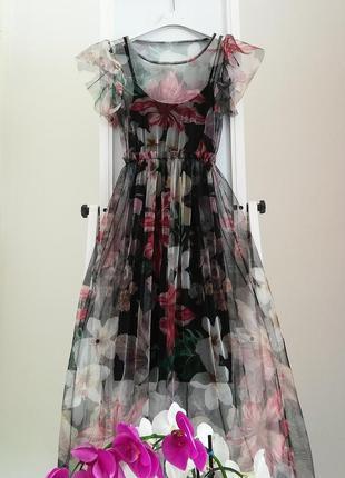 Платье - сетка  тренд из италии1 фото