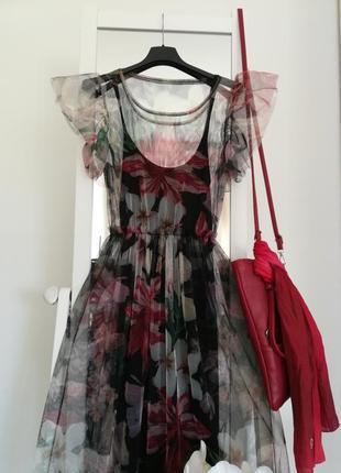 Платье - сетка  тренд из италии2 фото