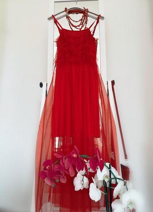 🎀 красное платье из флоренции италия