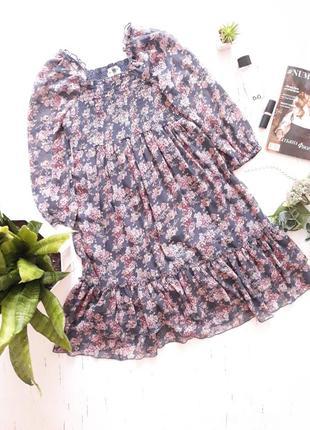 Легкое и романтичное  шифоновое платье от next uk8