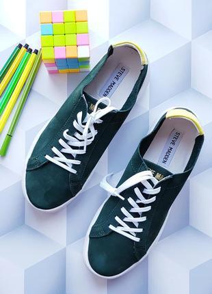 Зеленые кеды сникерсы кожа бренд steve madden р. 38, 5