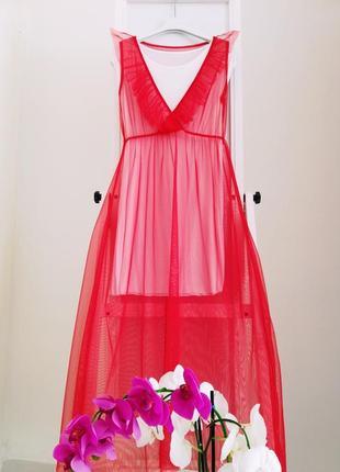 Красное платье  из италии