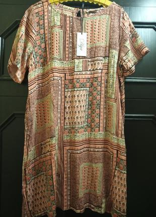 Натуральное летнее платье индия