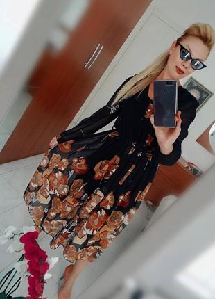 Платье -цветочный принт италия