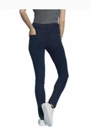 Темно синие джинсы скинни высокая посадка esmara