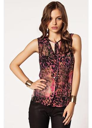 Брендовая яркая блуза топ vero moda индия принт абстракция этикетка