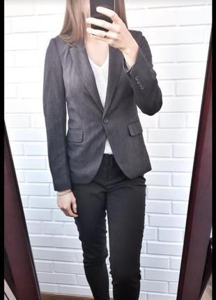 Класический удлиненный жакет пиджак zara