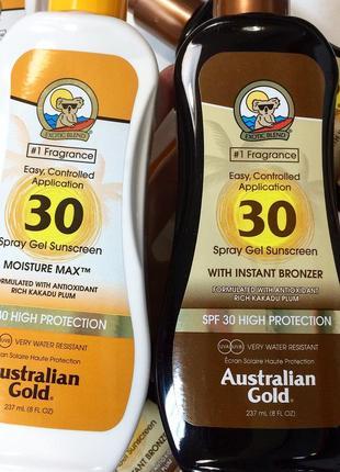 Акaustralian gold для загара на солнце spf 30