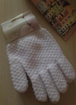 Новые белые скраб пилинг перчатки
