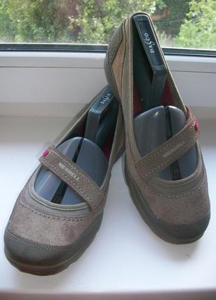 Туфли-мокасины женские натуральная замша merrell р.40