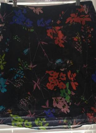 Шикарная шифоновая юбка zara