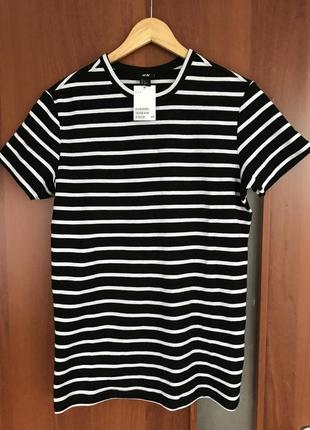 Текстурная футболка h&m размер s