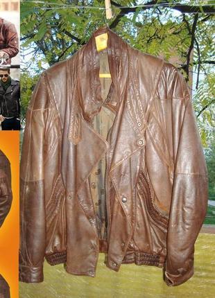 Код 001. бомбер - куртка, в которой вы всегда на высоте! натуральная кожа!