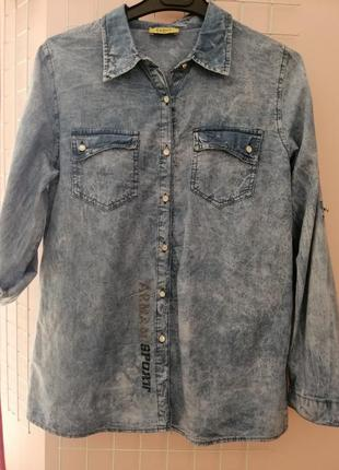 Сорочка джинс.