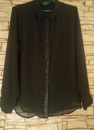 Шифоновая блуза,рубашка,большой размер
