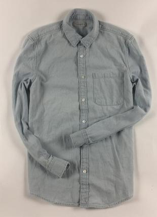 Рубашка джинсовая cws мужская голубая размер s