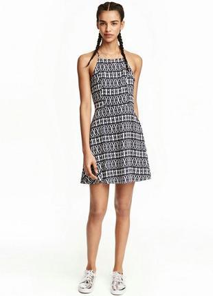 Платье летнее в принт, плаття h&m, сарафан 48-50 розмір