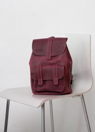 Женский городской  рюкзак среднего размера из натуральной кожи стильный легкий2 фото