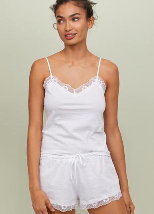 Новая пижама от h&m из воздушного хлопка пима