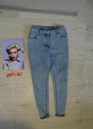 Стильные джинсы мом момы бойфренды с высокой посадкой