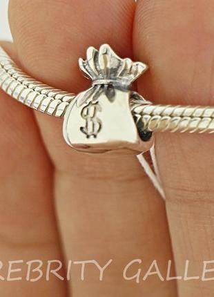 10% скидка - подписчикам! шарм-подвес для браслета пандора серебряный. br 3100538