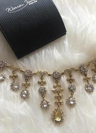 Warren james jewelry  _дуже красиве золоте кольє на шию з камінцями
