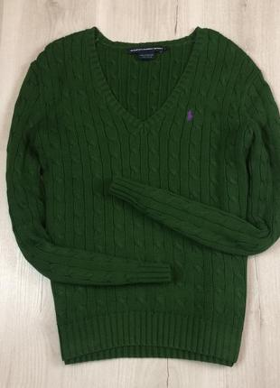 Женский пуловер ralph lauren ральф лорен джемпер кофта вязаная