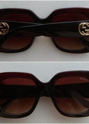 Новые стильные очки квадратные, коричневые