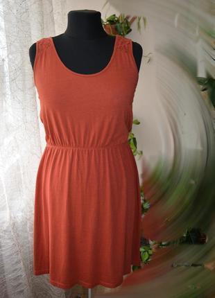 Натуральное летнее платье, кружево, хлопок, модал