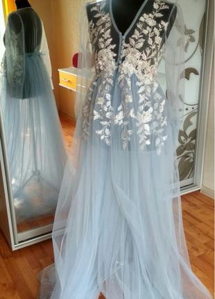 Будуарное платье , платье для невесты , платье для беременных, платье со шлейфом